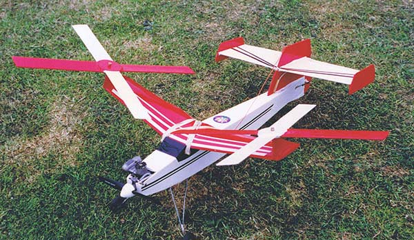 A Red and White DB Autogyro, completed from the DB Kit