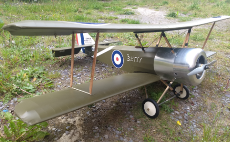 Sopwith Pup 60 Model on the ground